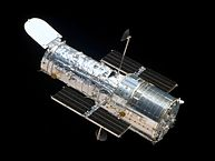 The Hubble Space Telescope as seen from the departing Space Shuttle Atlantis, flying Servicing Mission 4 (STS-125), the sixth and final Hubble mission