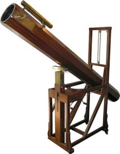 Replica in the William Herschel Museum, Bath, of a telescope similar to that with which Herschel discovered Uranus.